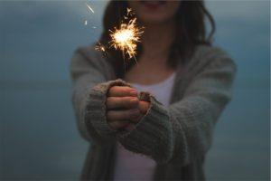 Firework Sparkles Fire Holding Hands Sparkler